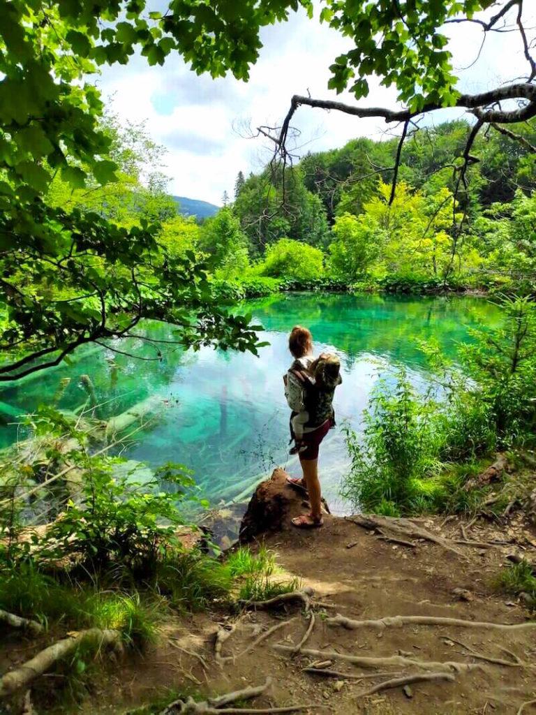 Portear en los lagos Plitvice