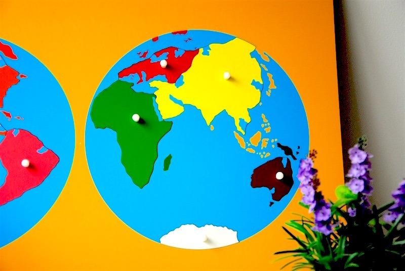 Puzzle mapa del mundo montessori