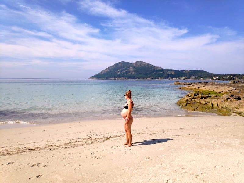 Ruta por Galicia embarazada